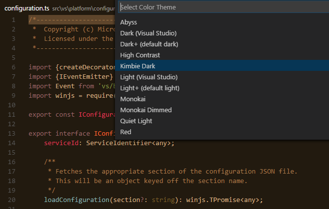 Themes - vscode-docs