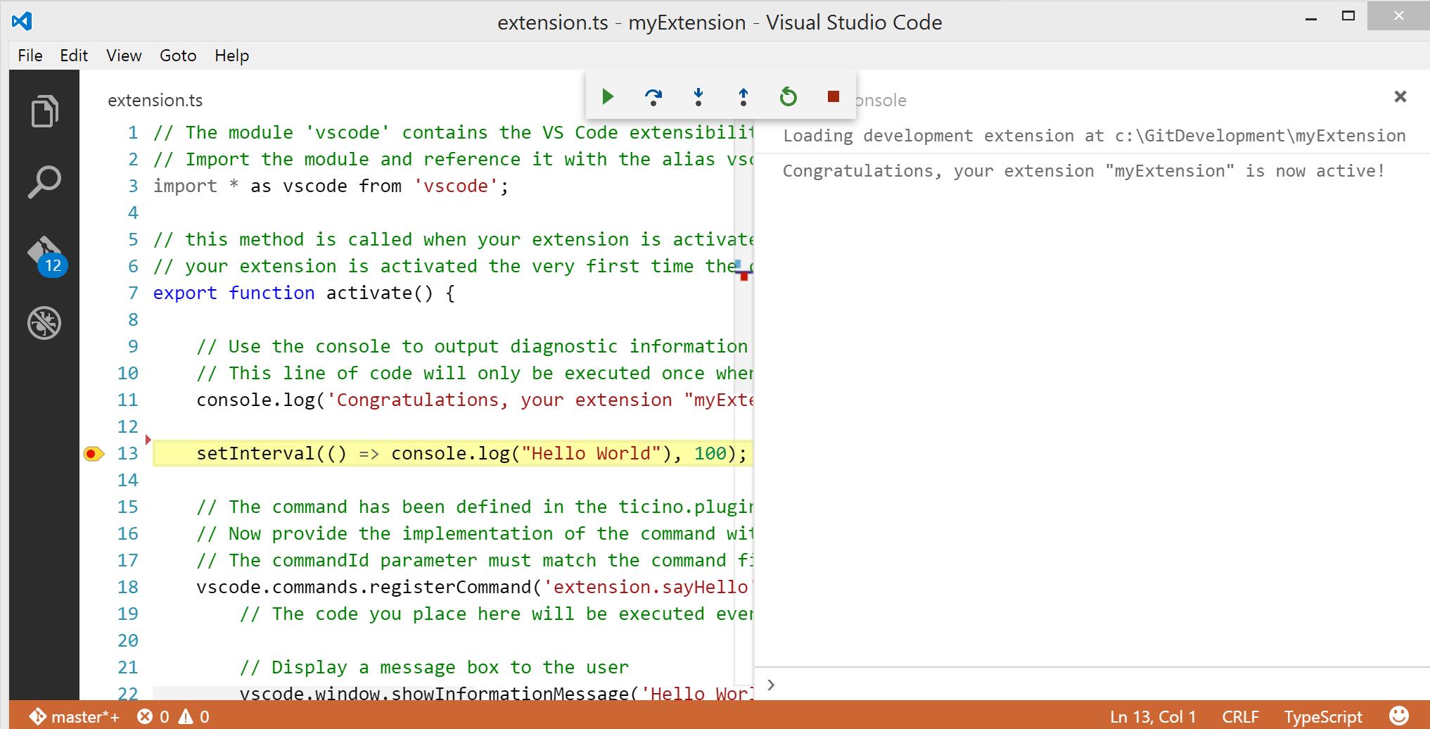 Debugging extensions - vscode-docs